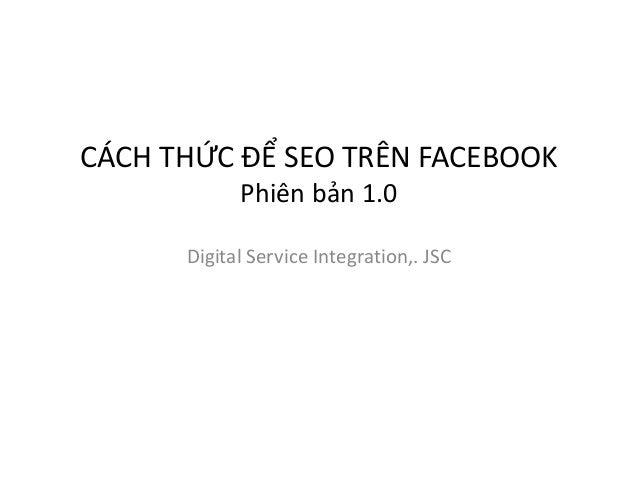 Huong dan SEO tren Facebook