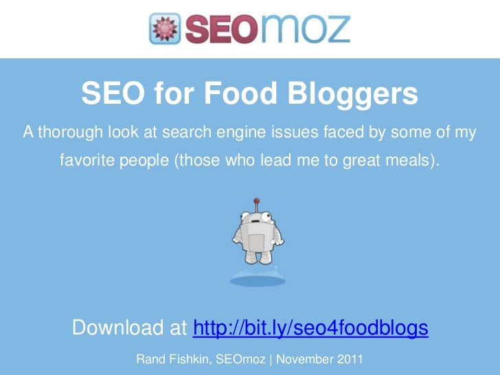 SEO for Food BloggersA thorough look at search engine issues faced by some of my    favorite people (those who lead me to ...