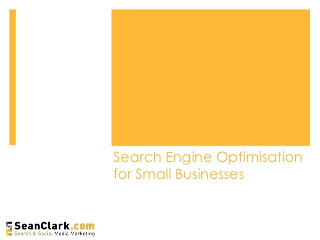 Search Engine Optimisation for Small Businesses