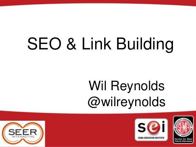 Linkbuilding 101 + Blended Search
