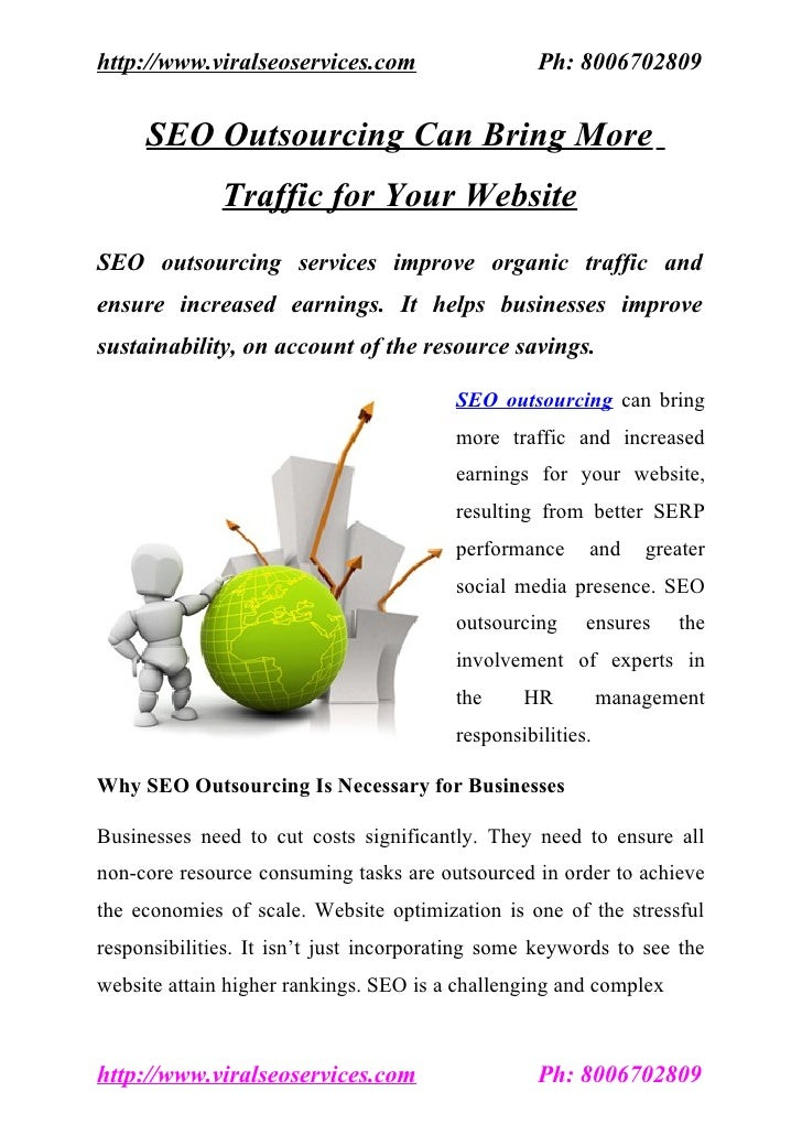 SEO Outsourcing Can Bring More Traffic for Your Website