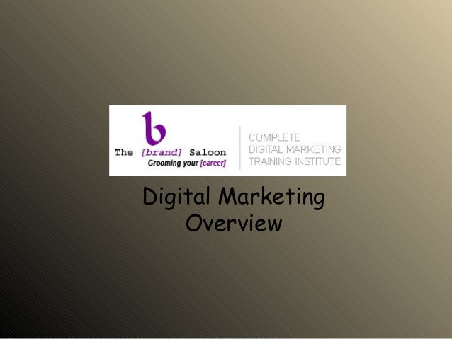 Overview of Digital Marketing - TBS