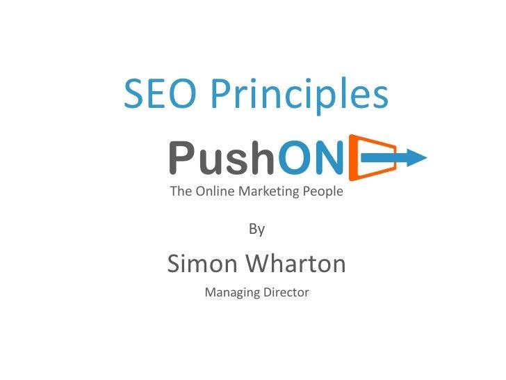 SEO Principles By Simon Wharton Managing Director