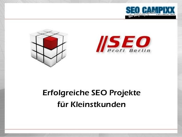 Workshop-Vortrag auf der SEO Campixx 2012