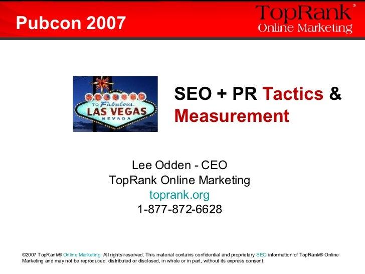 SEO Public Relations: Tactics and Measurement Tools