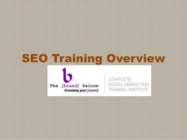 SEO Training Overview