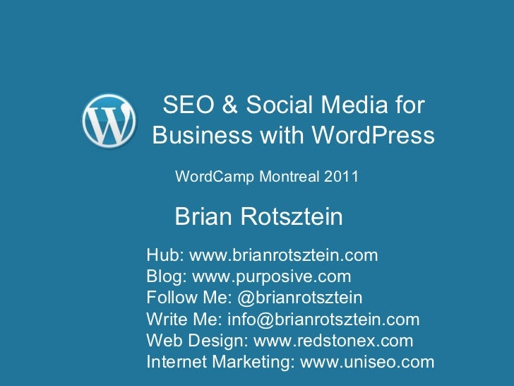 SEO & Social Media for Business with WordPress