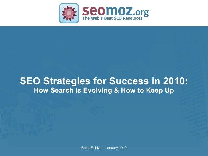 Seo Strategies 2010