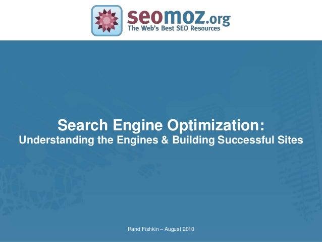 Seomoz - SEO Training
