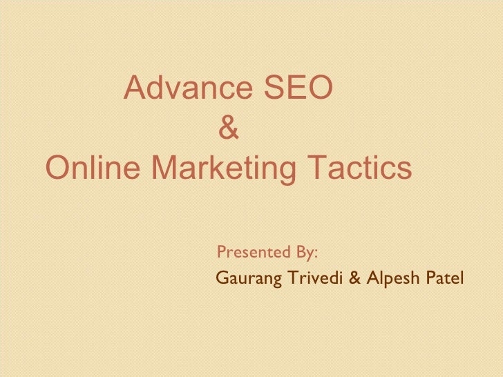 Advance SEO Training - Professional SEO Techniques