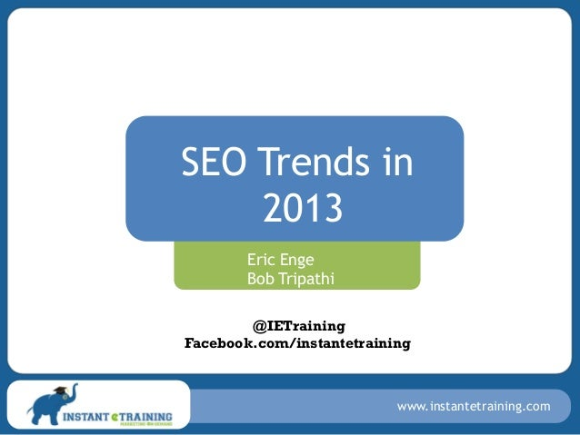 SEO Trends in 2013