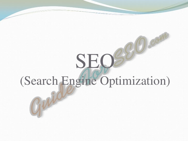 SEO(Search Engine Optimization)