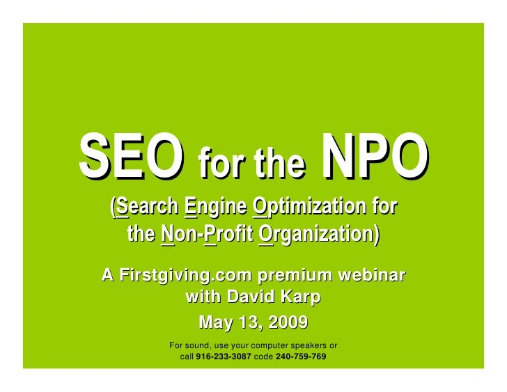 SEO for the NPO