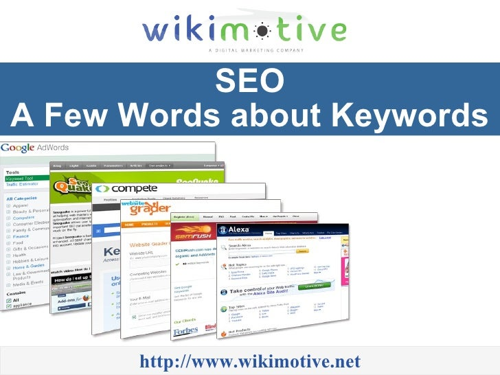 SEO - A Few Words about Keywords