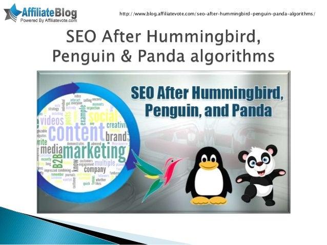 Seo after hummingbird, penguin & panda algorithms