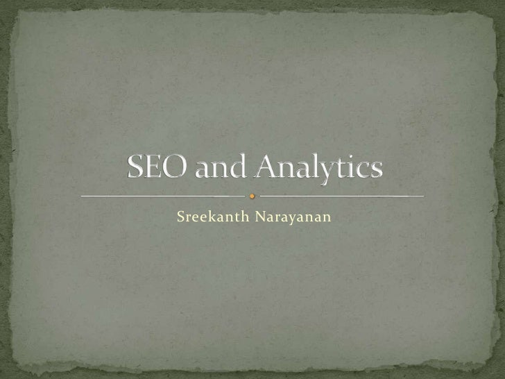 Seo and analytics basics