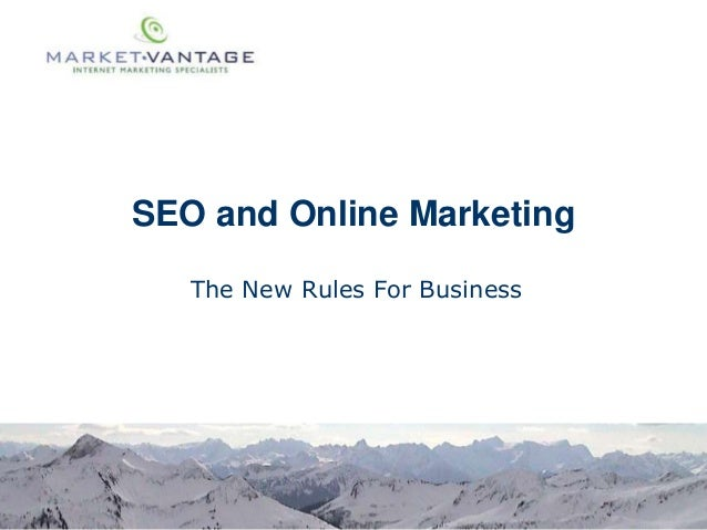 SEO and Online Marketing The New Rules For Business