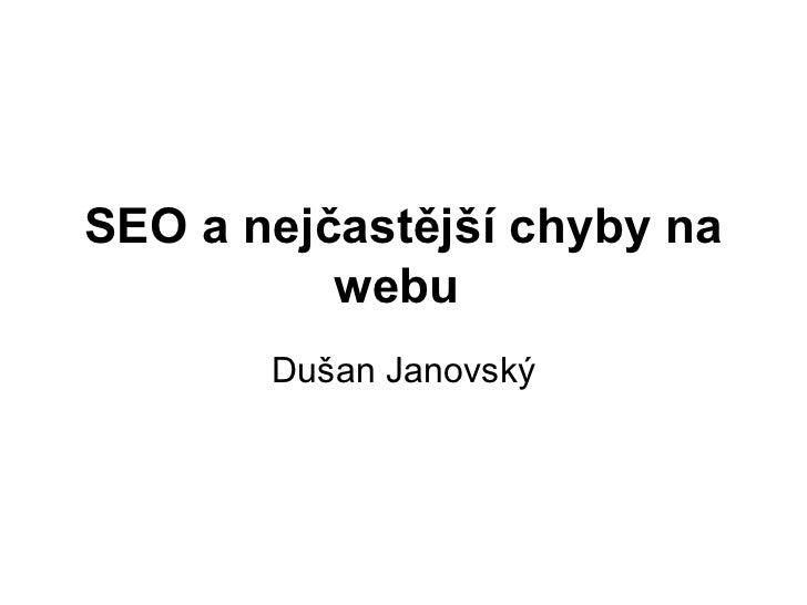 Seo a nejčastější chyby na webu