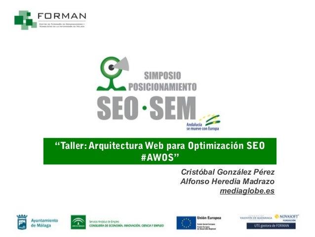 Taller Arquitectura Web para Optimización SEO