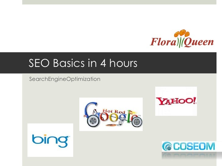 SEO Basics in 4 hours<br />SearchEngineOptimization<br />