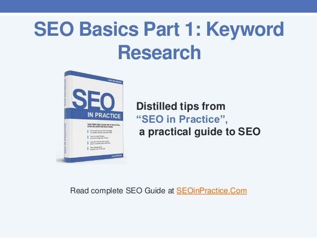 Seo basics part 1. Keyword research