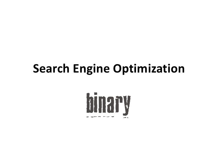 Search Engine Optimization<br />