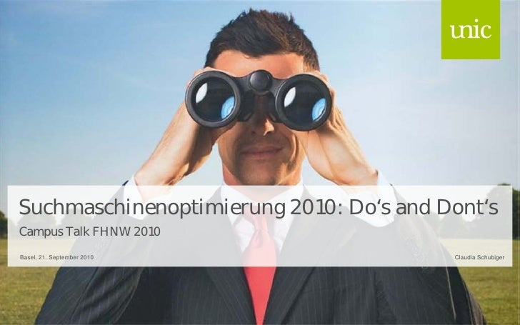 Campus Talk - Suchmaschinenoptimierung 2010: Do's and Dont's