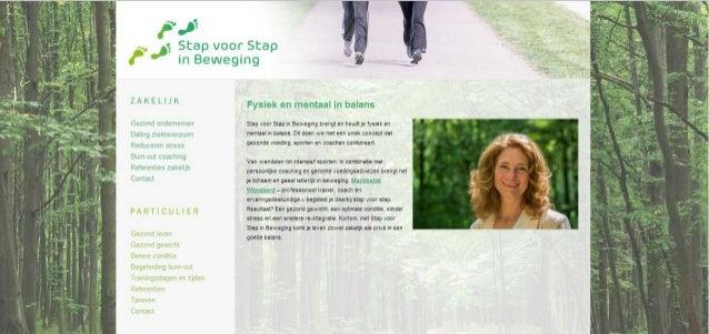 Advies, navigatie en content en navigatie stapvoorstapinbeweging.nl