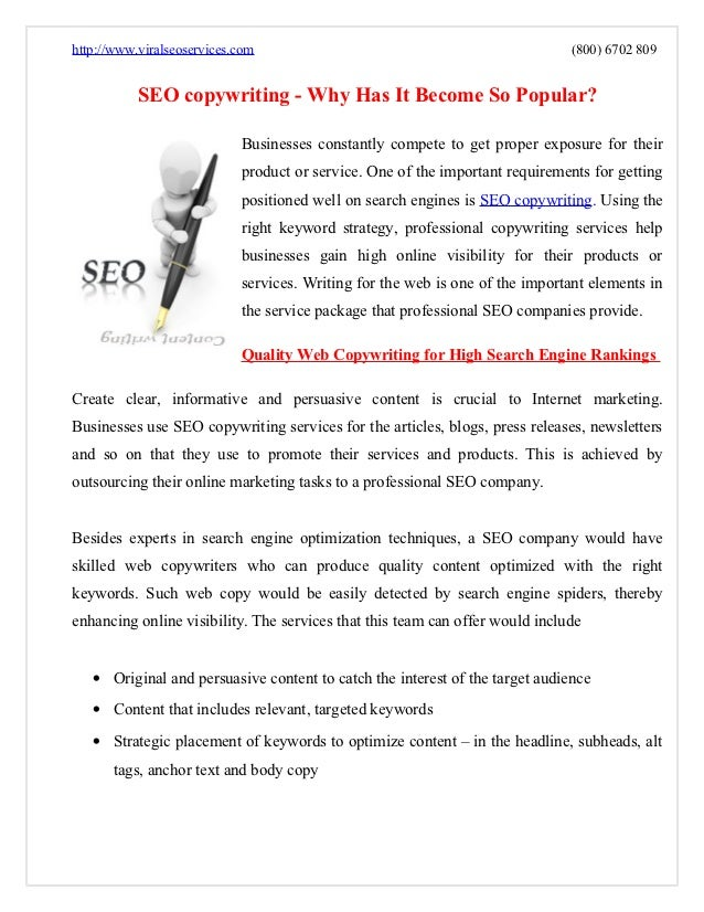 Seo copywriting   why has it become so popular