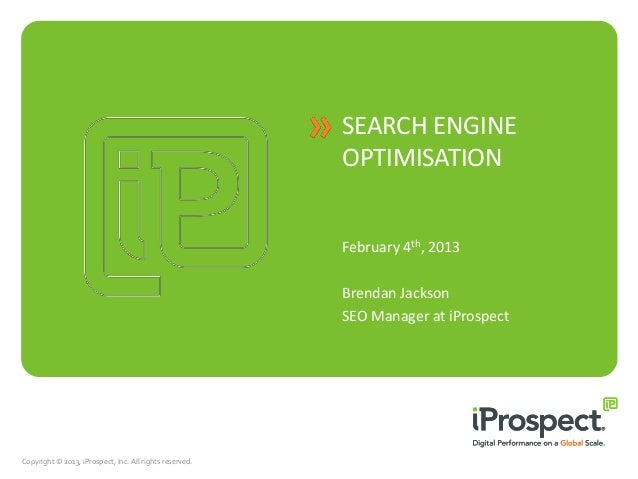 SEARCH ENGINE                                                         OPTIMISATION                                        ...