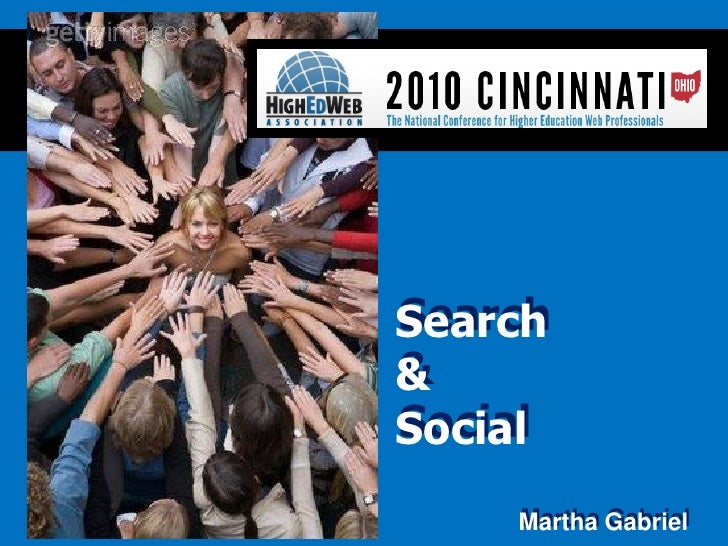 Search                  &                  Social                      Martha Gabriel Martha Gabriel