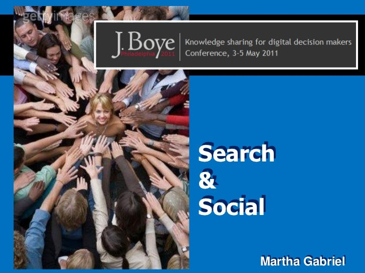 Social & Search - two faces of the same coin, by Martha Gabriel