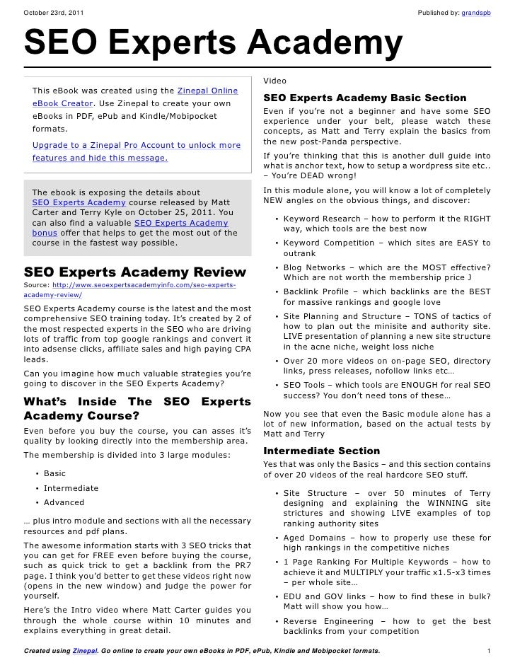 SEO Experts Academy