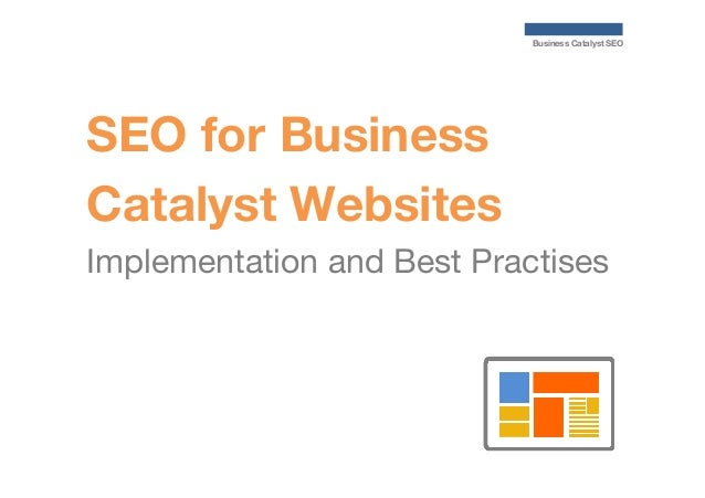 Business Catalyst SEO  SEO for Business Catalyst Websites Implementation and Best Practises