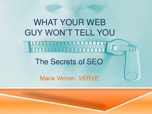 The Secrets of SEO