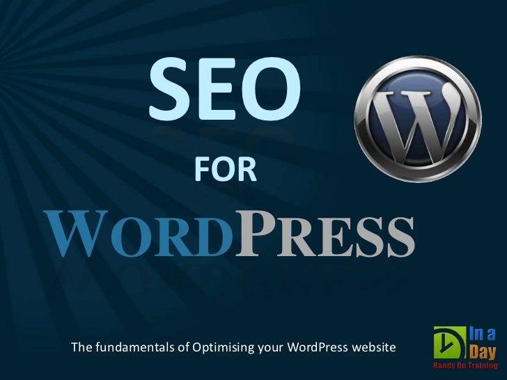 SEO for WordPress - WordCamp GoldCoast 2011