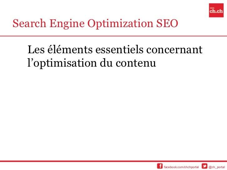 Search Engine Optimization SEO  Les éléments essentiels concernant  l'optimisation du contenu                            f...