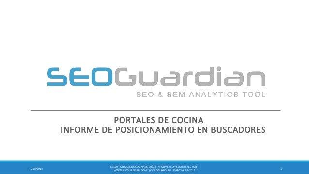 PORTALES DE COCINA INFORME DE POSICIONAMIENTO EN BUSCADORES 17/28/2014 ES129-PORTALESDE COCINA ESPAÑA | INFORME SEO Y SEM ...
