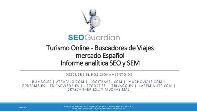 Turismo Online - Buscadores de Viajes mercado Español Informe analítica SEO y SEM DESCUBRE EL POSICIONAMIENTO DE RUMBO.ES ...