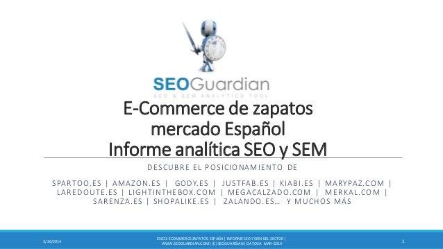 E-Commerce de zapatos mercado Español Informe analítica SEO y SEM DESCUBRE EL POSICIONAMIENTO DE SPARTOO.ES | AMAZON.ES | ...