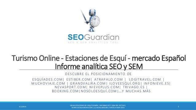 Turismo Online - Estaciones de Esquí - mercado Español Informe analítica SEO y SEM DESCUBRE EL POSICIONAMIENTO DE ESQUÍADE...