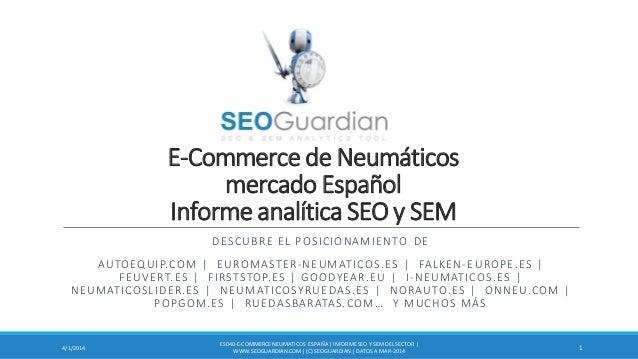 E-Commerce de Neumáticos mercado Español Informe analítica SEO y SEM DESCUBRE EL POSICIONAMIENTO DE AUTOEQUIP.COM | EUROMA...