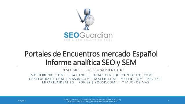Portales de Encuentros mercado Español Informe analítica SEO y SEM DESCUBRE EL POSICIONAMIENTO DE MOBIFRIENDS.COM | EDARLI...