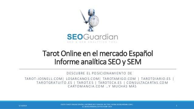 Tarot Online en el mercado Español Informe analítica SEO y SEM DESCUBRE EL POSICIONAMIENTO DE TAROT-JOSNELL.COM  LOSARCANO...
