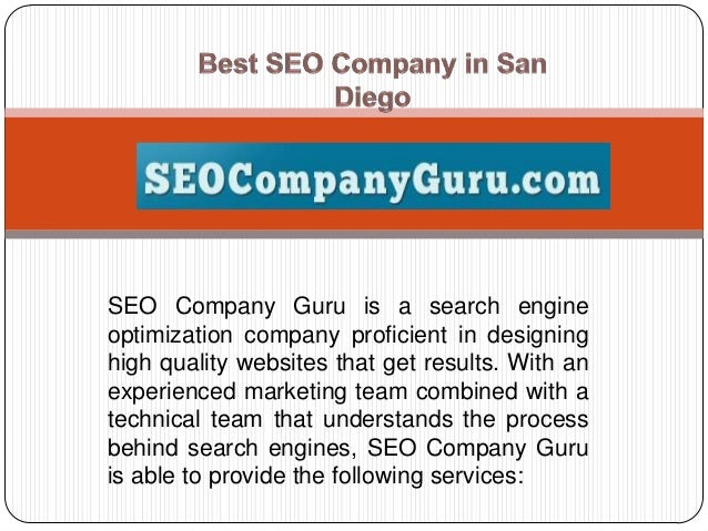 SEO Company Guru is a search engine optimization company proficient in designing high quality websites that get results. W...