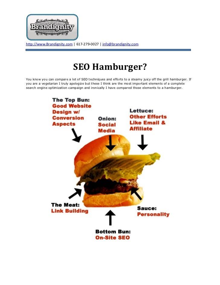 http://www.Brandignity.com | 617-279-0027 | info@brandignity.com                              SEO Hamburger?You know you c...