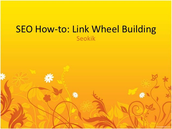 Seo how to link wheel building