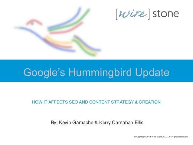 Google Hummingbird Update & Content Strategy