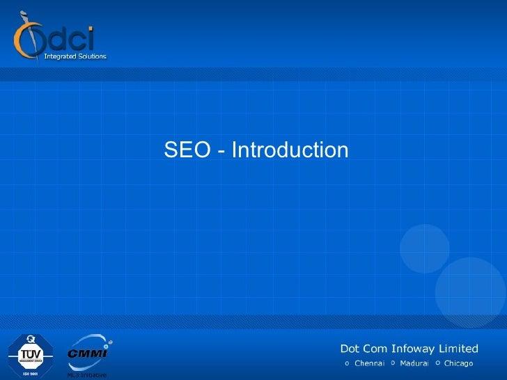 SEO Introduction