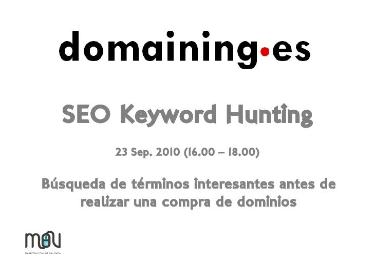 Seo keyword hunting Domaining.es